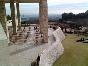 One of the terraces at the Getty Museum