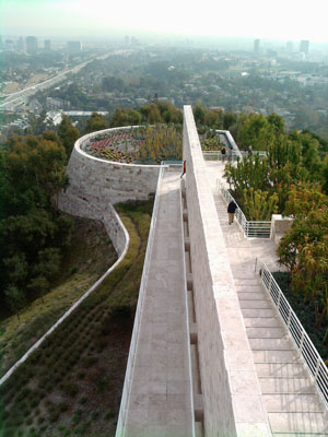 Walkway at the Getty Museum