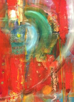 Emerging, Mixed Media on Canvas, by Mary Gow