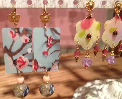 Earrings designed by Cheryl Hayward