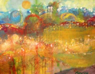 Field of Wonder, acrylic on canvas, by Mary Gow
