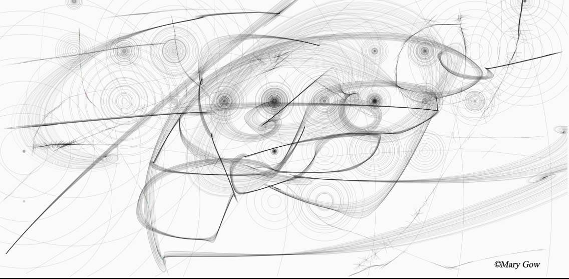 Symbiotics, drawing by Mary Gow using Harmonious App