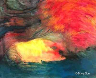 """""""Inner Wave,"""" acrylic on canvas, 16 x 20, by Mary Gow"""