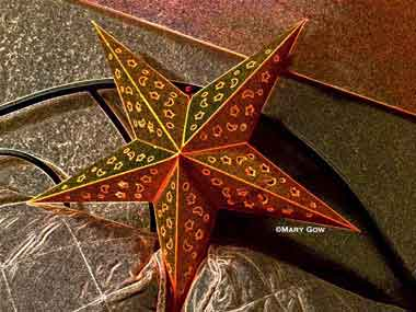 """Star,"" photo by Mary Gow applying the Paper Artist app"
