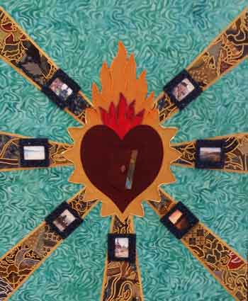 """Hatiku di Indonesia (My Heart is in Indonesia),"" mixed media by Merry E. Wilcox"