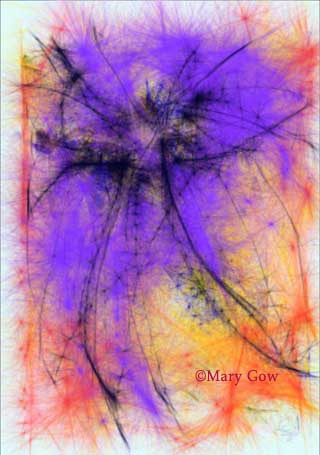 """""""Blossom,"""" drawing by Mary Gow"""