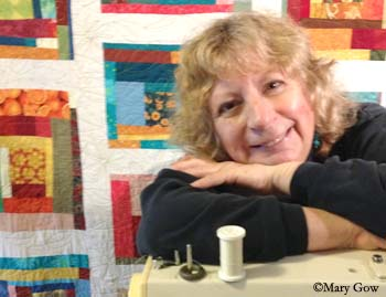 Joy-Lily, San Francisco-based Fiber/Surface Design Artist. Photo by Mary Gow