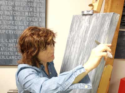 Definitional Painter Sophia Green. Photo by Mary Gow.