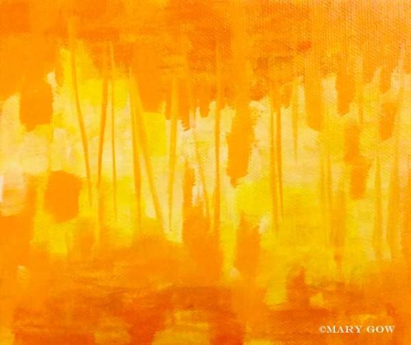 """Walk Through,"" acrylic on canvas by Mary Gow"