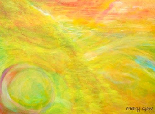 """Peace,"" acrylic on canvas, 16 x 20, by Mary Gow"