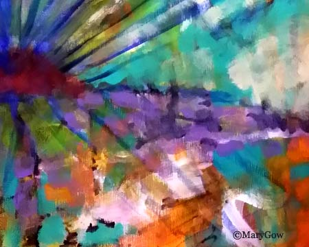 """""""Sunsational,"""" acrylic on canvas painting by Mary Gow"""