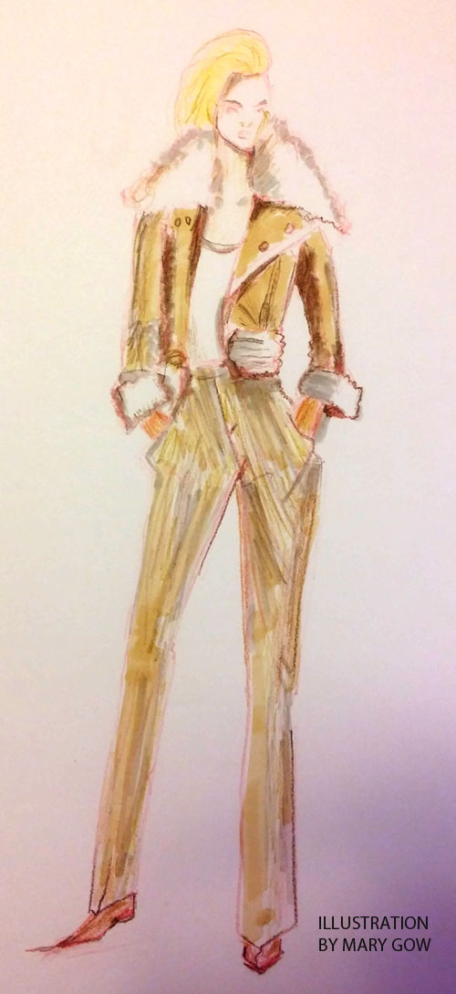 Fashion drawing, by Mary Gow